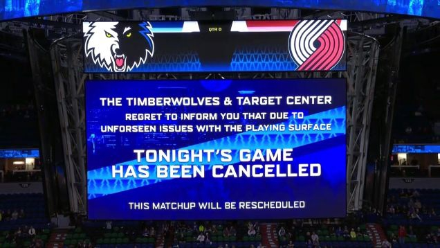Photo of Blazers-Timberwolves Game Canceled Due To Sweaty Hardwood