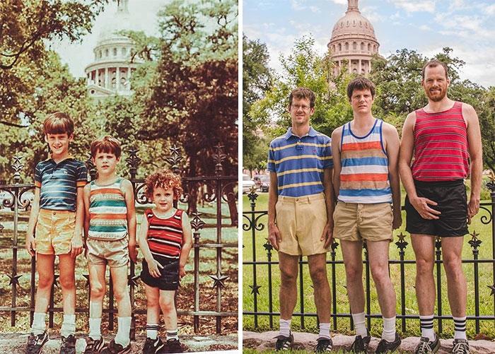 Фото Что выросло, то выросло: 19 лучших попыток воспроизведения детских фотографий