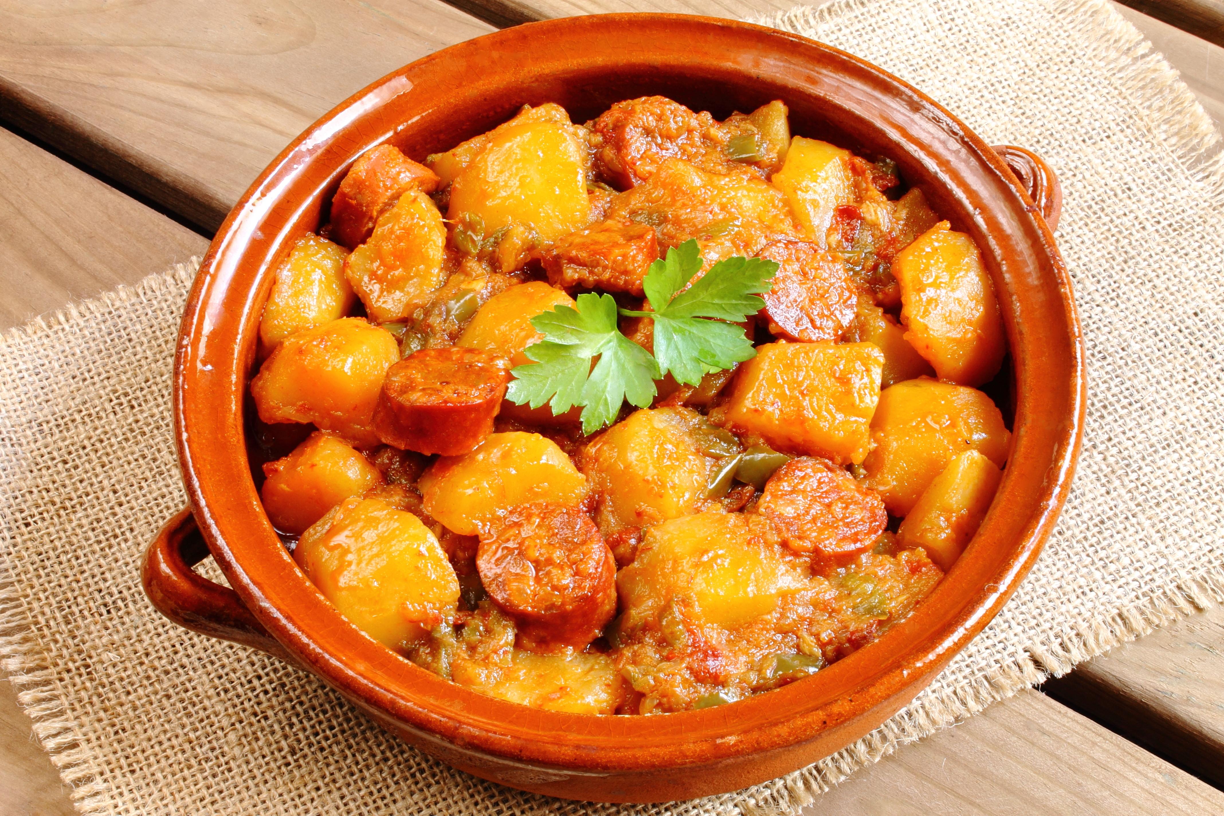 Охотничьи колбаски с картофелем
