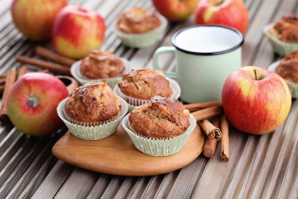 Овсяно-яблочные маффины