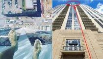 Архитектура: Бассейн с прозрачным дном, на 3 метра выступающий за пределы здания