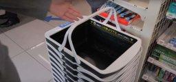 """Фото Гаджеты: Восстание машин 2: Японцы создали """"умную"""" корзинку, которая уволит всех магазинных кассиров"""