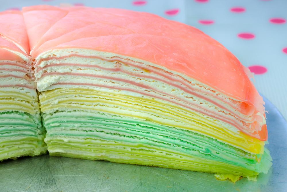 Блинный торт «Радуга»