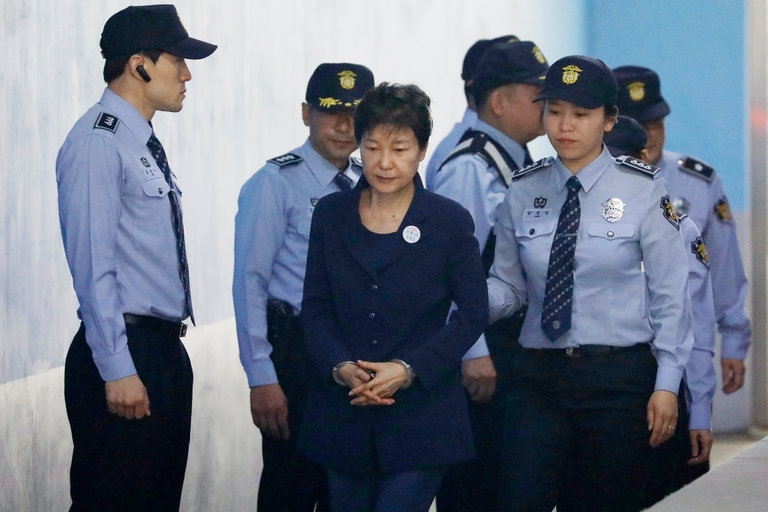 Photo of Park Geun-hye, Ousted Leader of South Korea, Denies All Charges in Court
