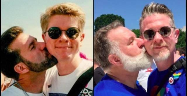 """Photo of Casal gay recria foto 25 anos depois """"para que jovens vejam que amor duradouro existe"""""""