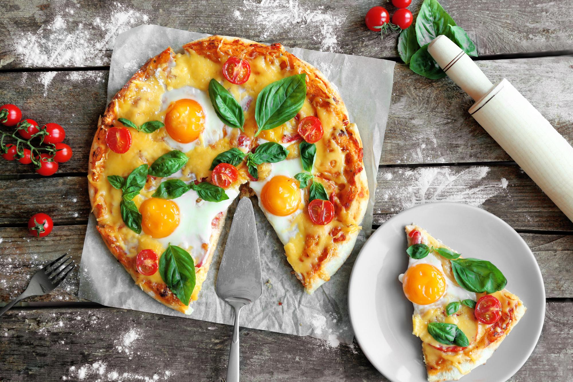 Вкуснейшая пицца на завтрак