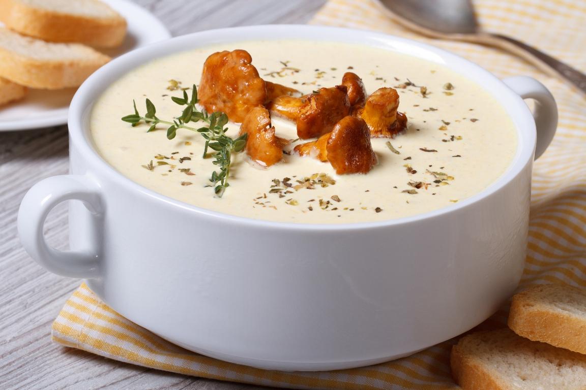 Домашний крем-суп с лисичками