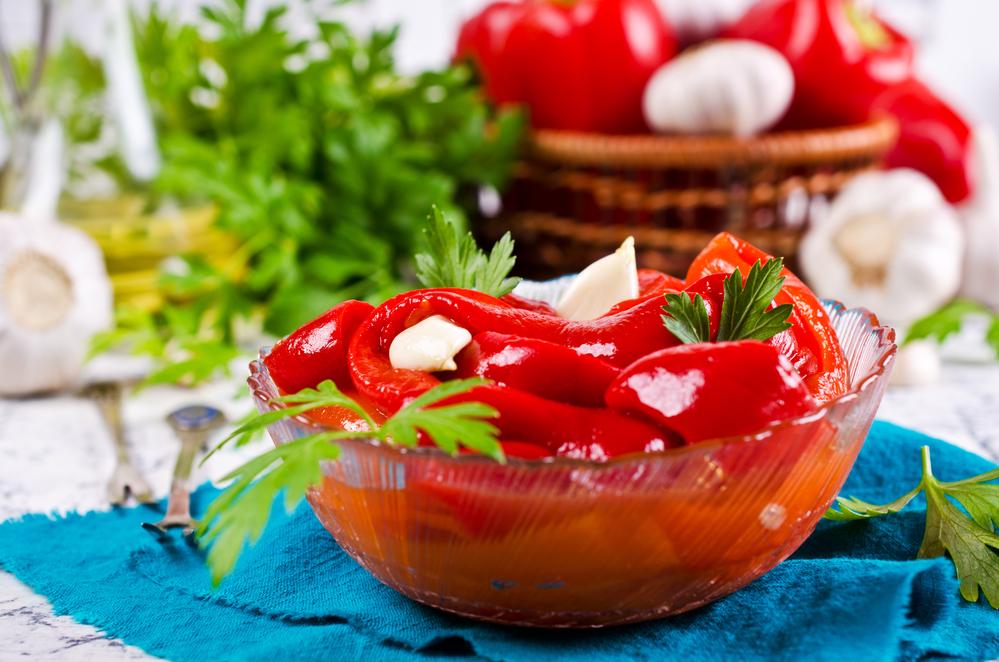 Мгновенно маринованный болгарский перец