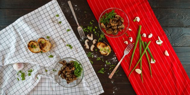 Фото Рецепт ароматных запечённых шампиньонов с чесноком