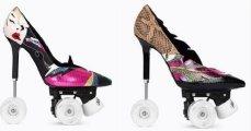 Fashion: Обувь для экстремалов: модный Дом Yves Saint Laurent презентовал туфли на колесах