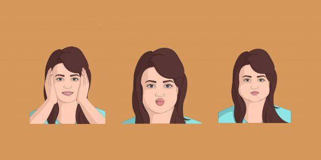 Фото Как убрать щёки: 5 упражнений для подтянутого лица