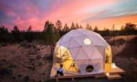 Архитектура: Геодезический купол для отдыха на природе - прекрасная альтернатива палаткам