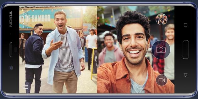 Фото Nokia 8 вводит моду на новые селфи Bothie