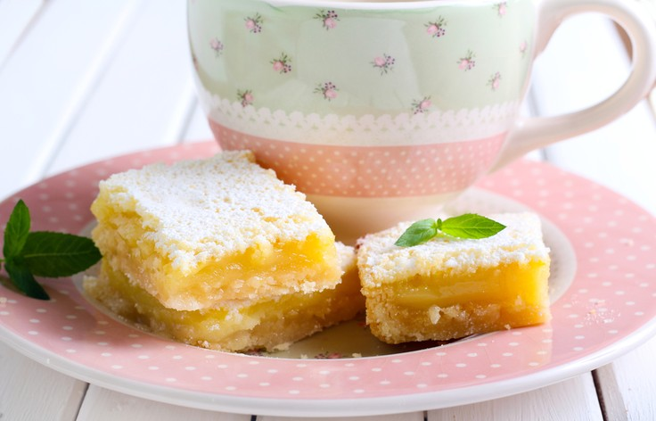 Фото Душистые лимонные квадратики к чаю