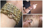 Промышленный дизайн: Не простое украшение: Массивный браслет, который превращается в средство самообороны