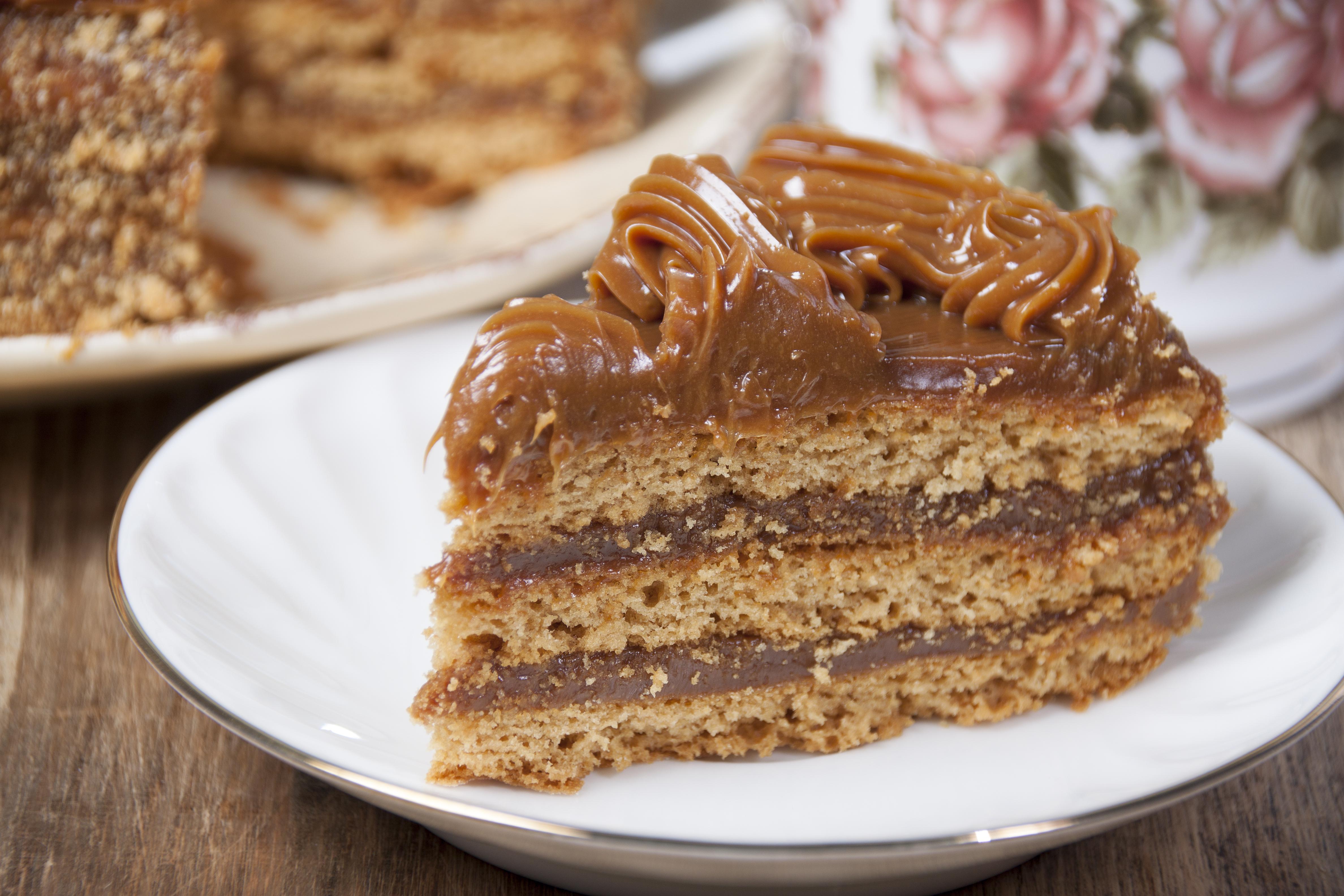 Шоколадный торт со сгущенкой