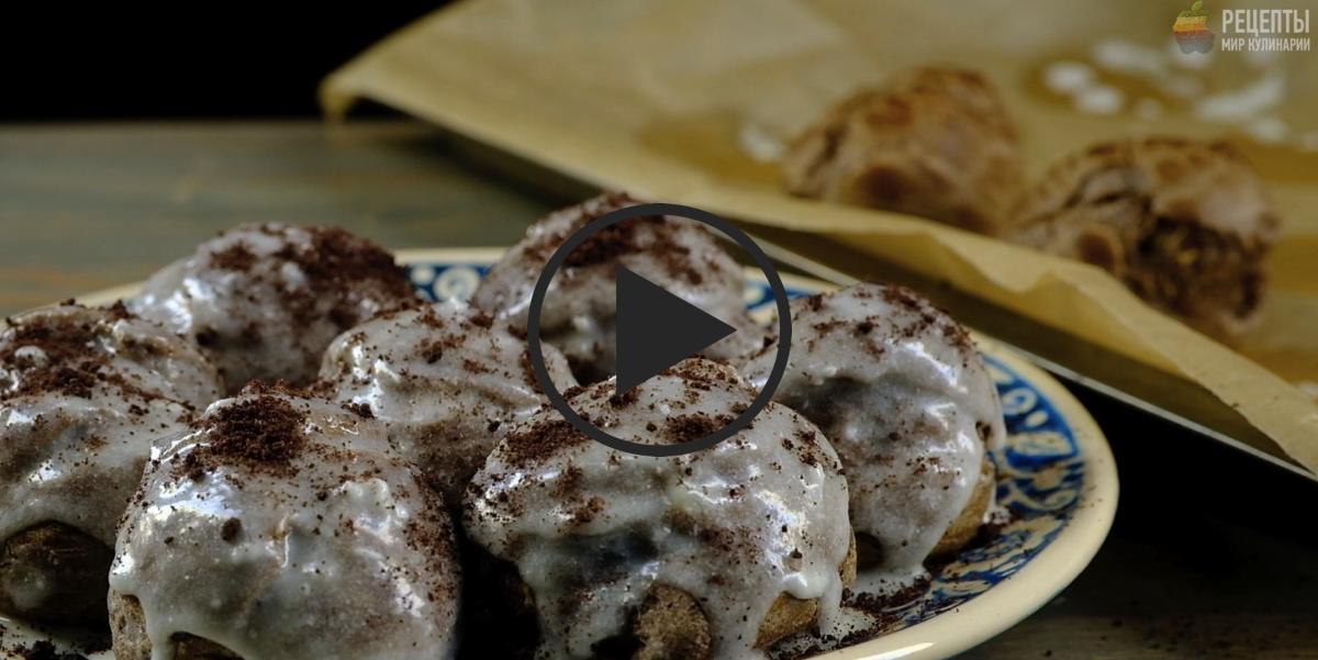 Необычные профитроли с начинкой на основе любимого печенья