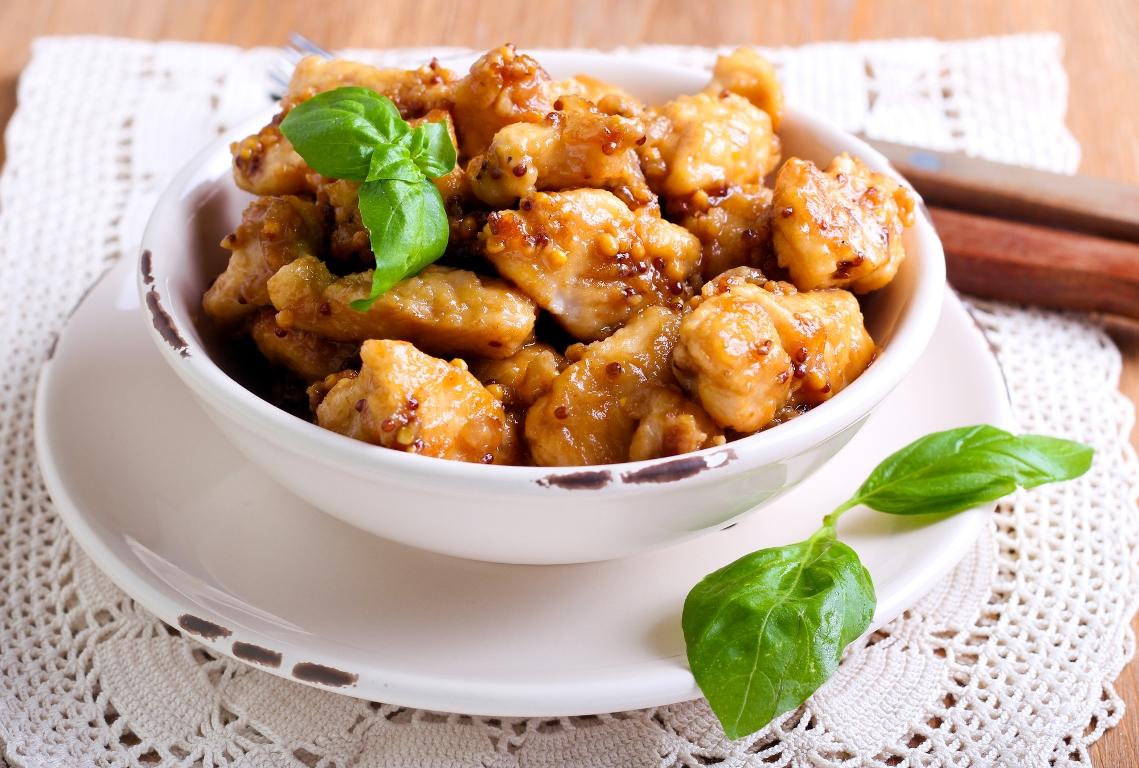 Нежнейшее куриное филе в медово-горчичном соусе