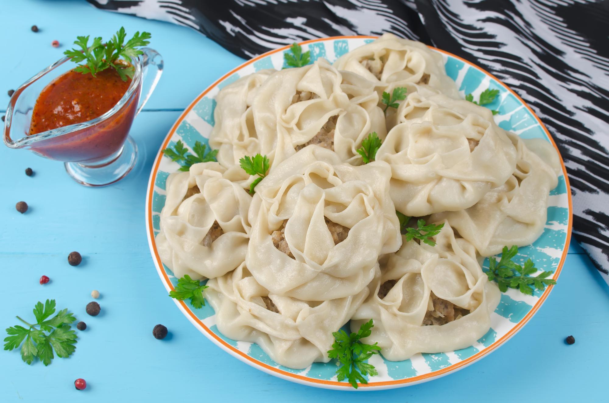 Узбекские манты с мясом