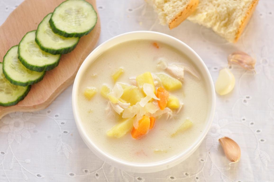 Вкуснейший сырный суп с курицей