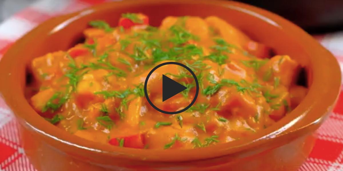 Венгерский паприкаш из куриного мяса: видео-рецепт