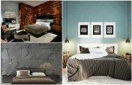 Фото Идеи вашего дома: 17 свежих идей оформления акцентной стены в интерьере современной спальни