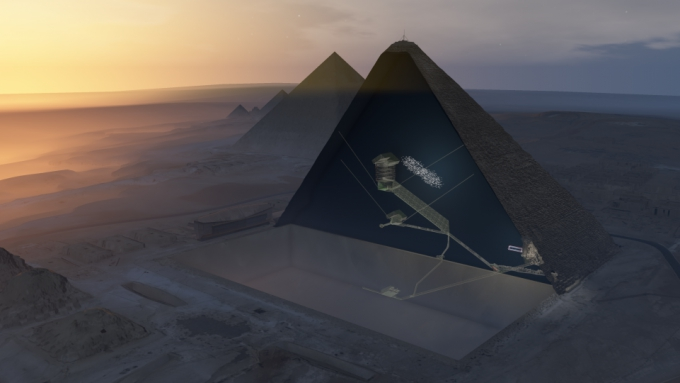 Photo of This huge void in the Great Pyramid is a new Egyptian mystery
