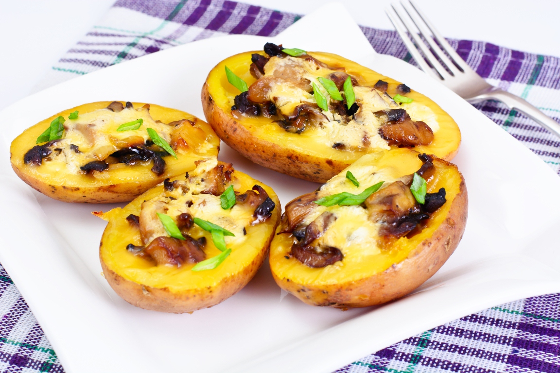 Вкуснейшая запеченная картошка с грибами