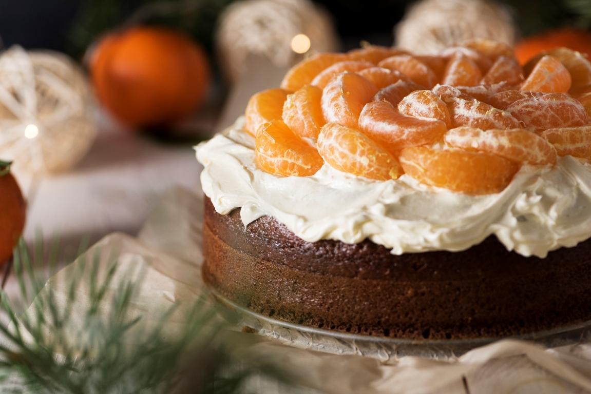 Вкуснейший праздничный мандариновый торт