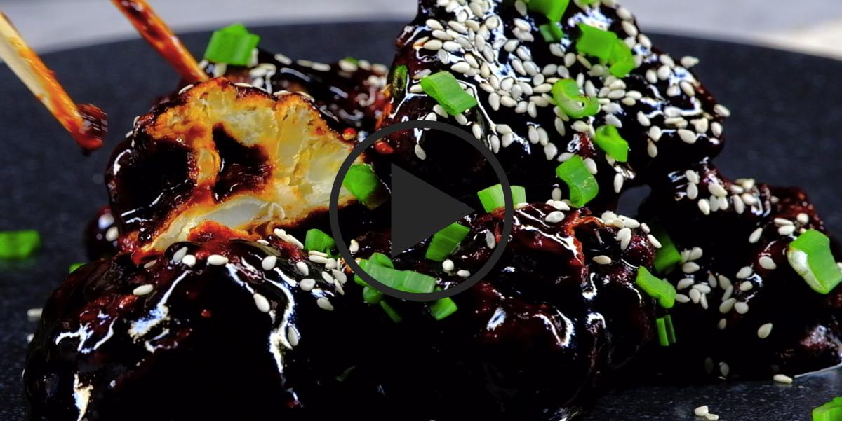 ВИДЕО-РЕЦЕПТ: Цветная капуста в густом кисло-сладком соусе