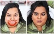 Fashion: Странные дела: Девушки стали поголовно вымазывать лицо помадой, чтобы быть еще красивее