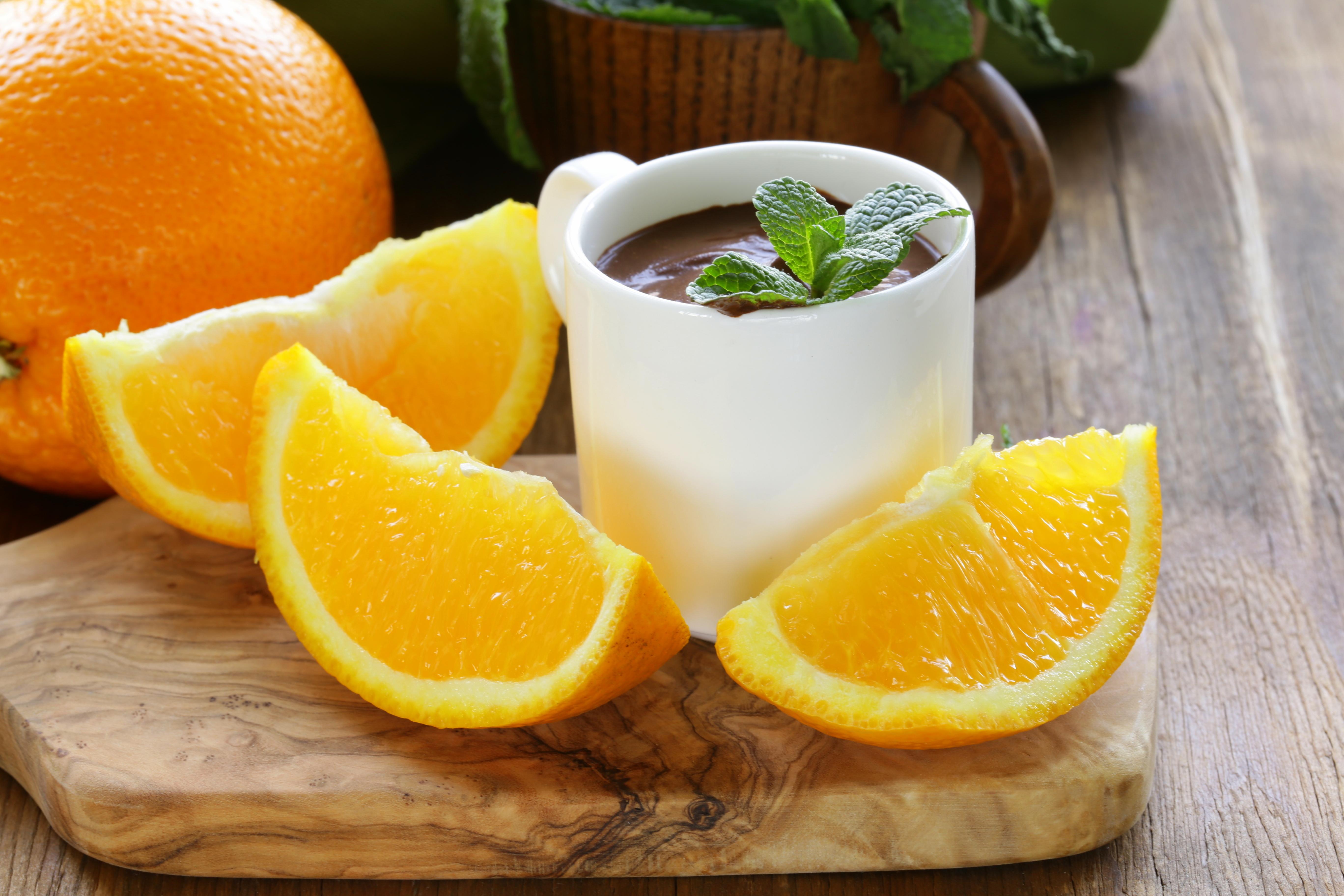 Шоколадный мусс с апельсином
