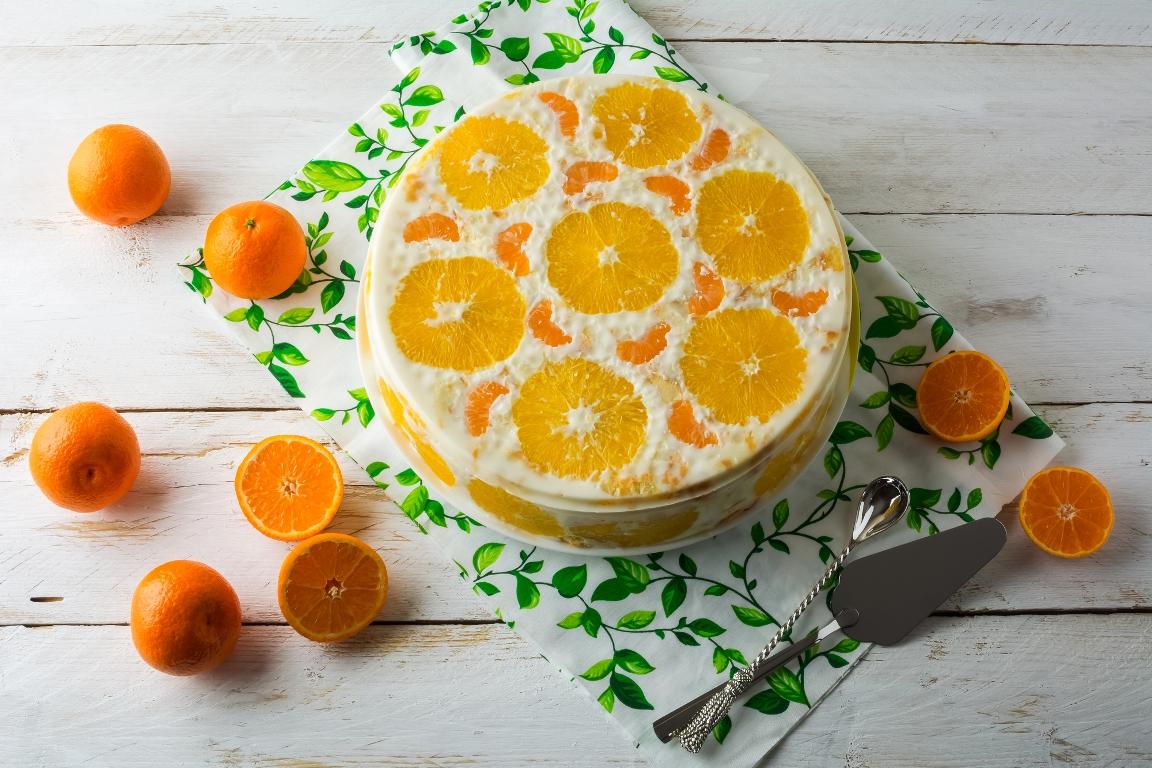 Праздничный желейный торт