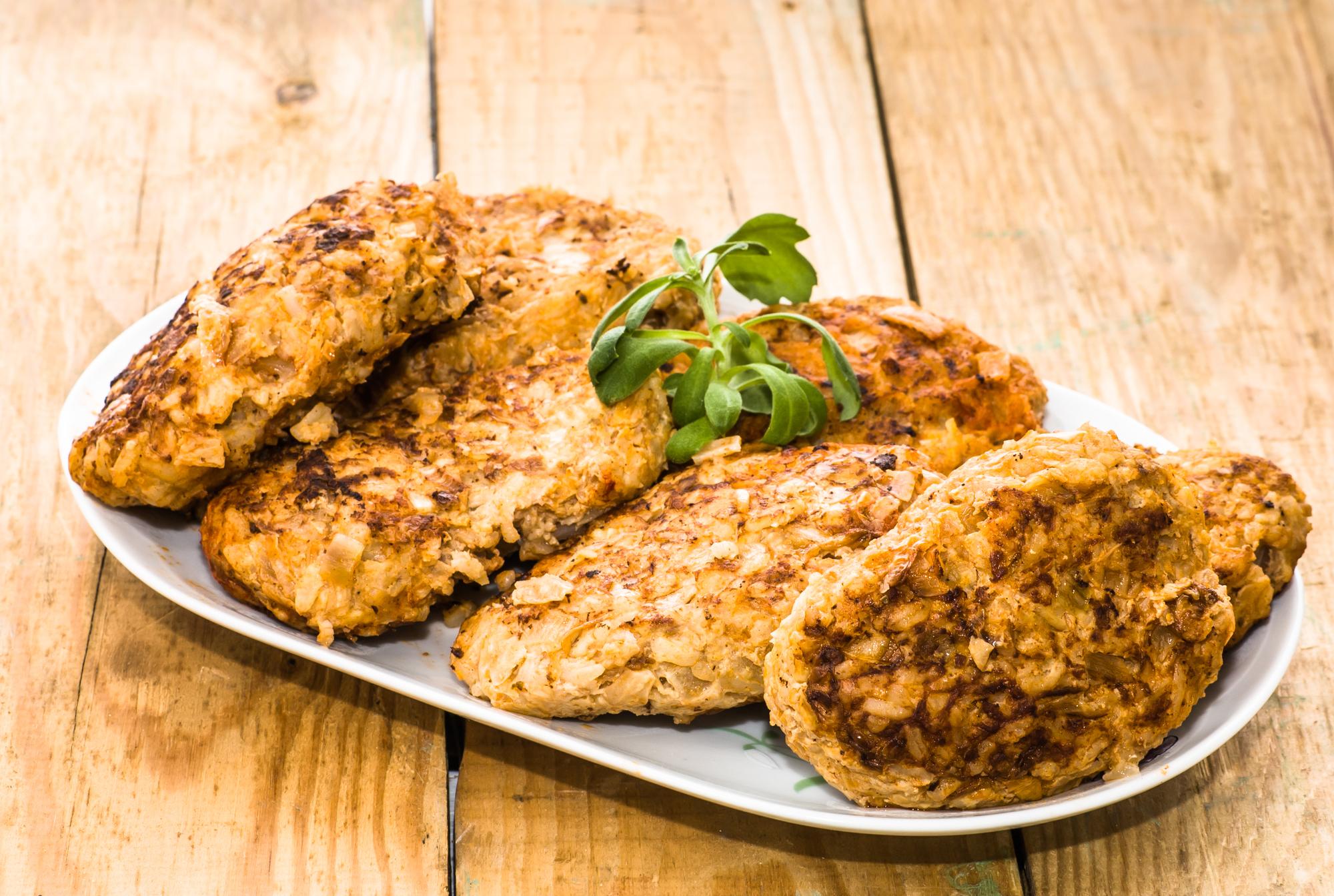 Котлеты из куриного фарша с рисом