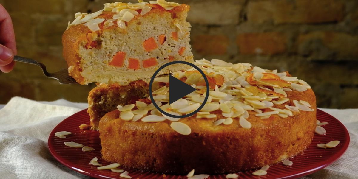 ВИДЕО-РЕЦЕПТ: Тыквенный пирог с миндалем