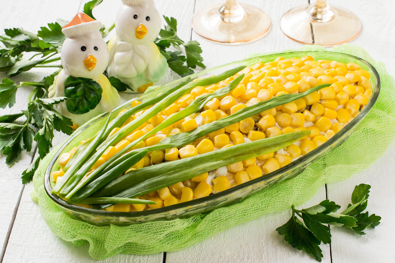 Салат «Кукуруза» с крабовым мясом