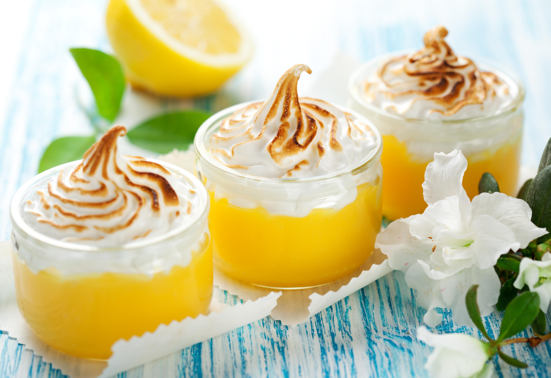 Лимонный курд с меренгой - превосходный десерт!