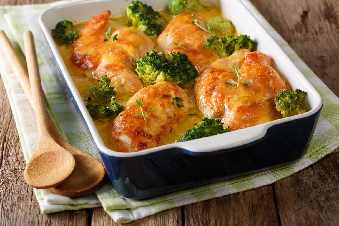 Вкуснейшая куриная запеканка с брокколи