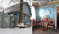 Архитектура: Ветхий дом из Брянской области прячет за дверями царское убранство