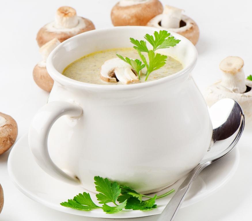 Нежнейший грибной суп-пюре из шампиньонов