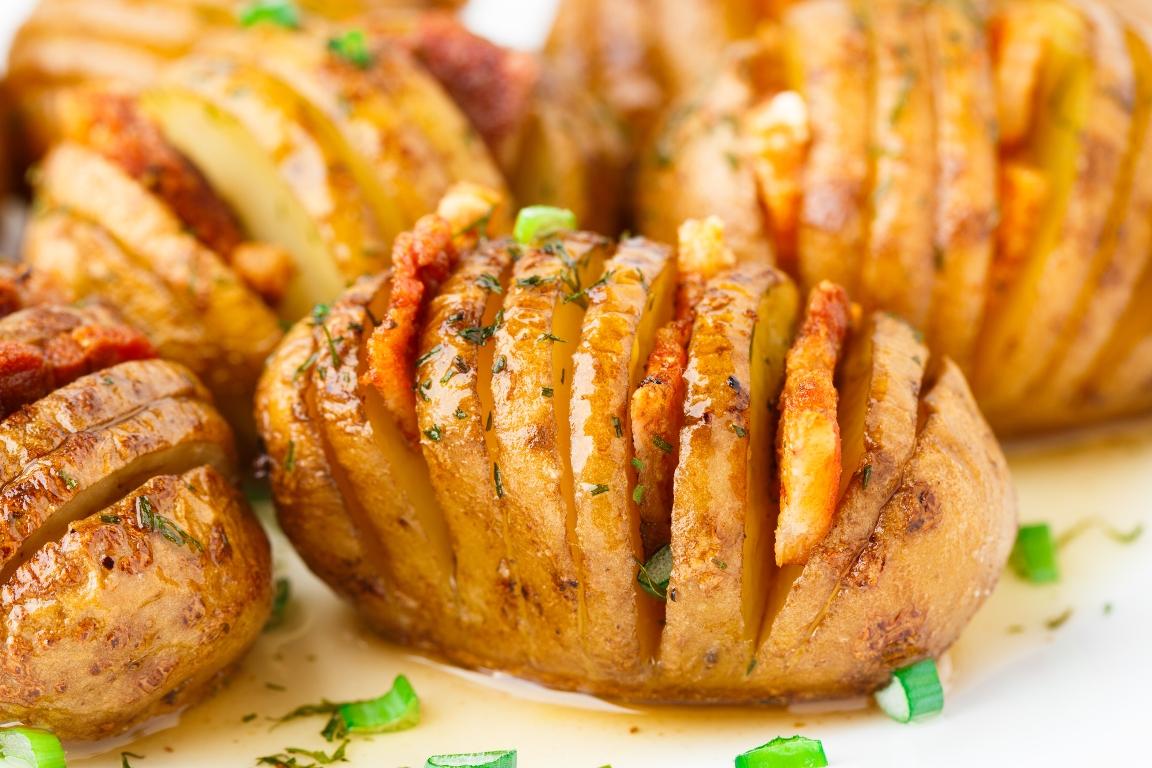 Аппетитная картошка-гармошка