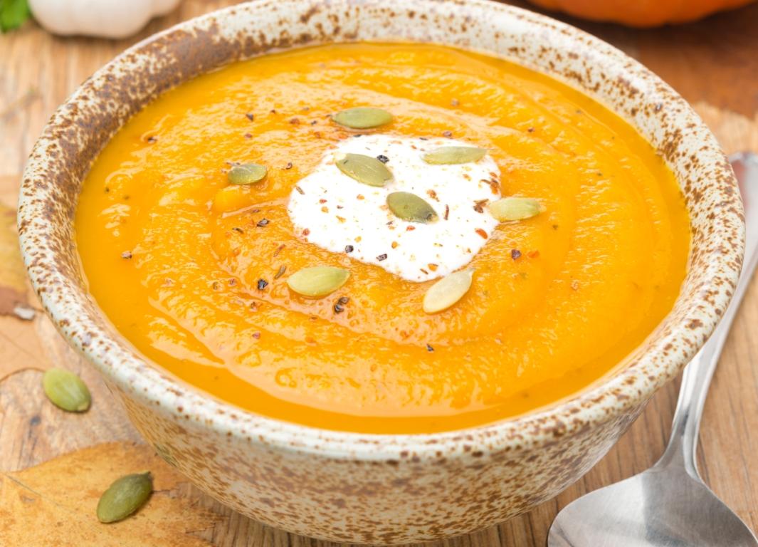 Бархатистый тыквенный крем-суп