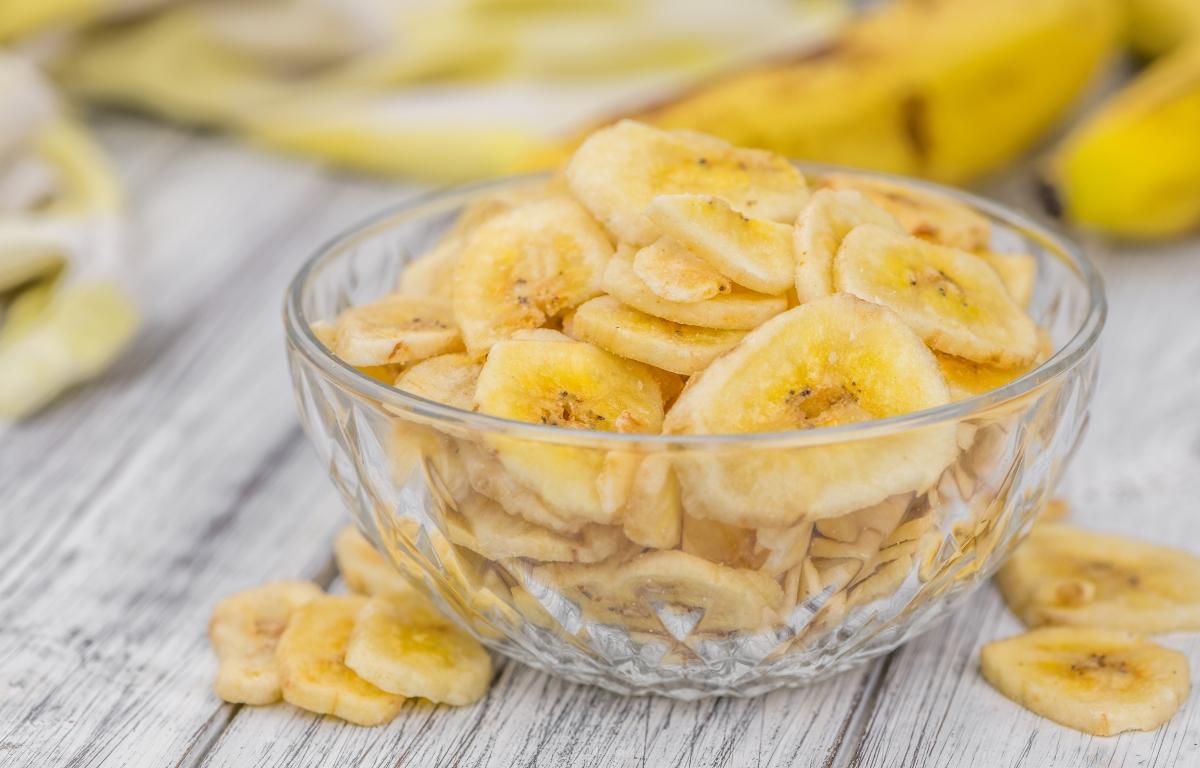 Домашние банановые чипсы