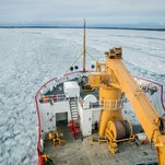 In the Great Lakes, They're Battling Ice, and Time. Take a Look.