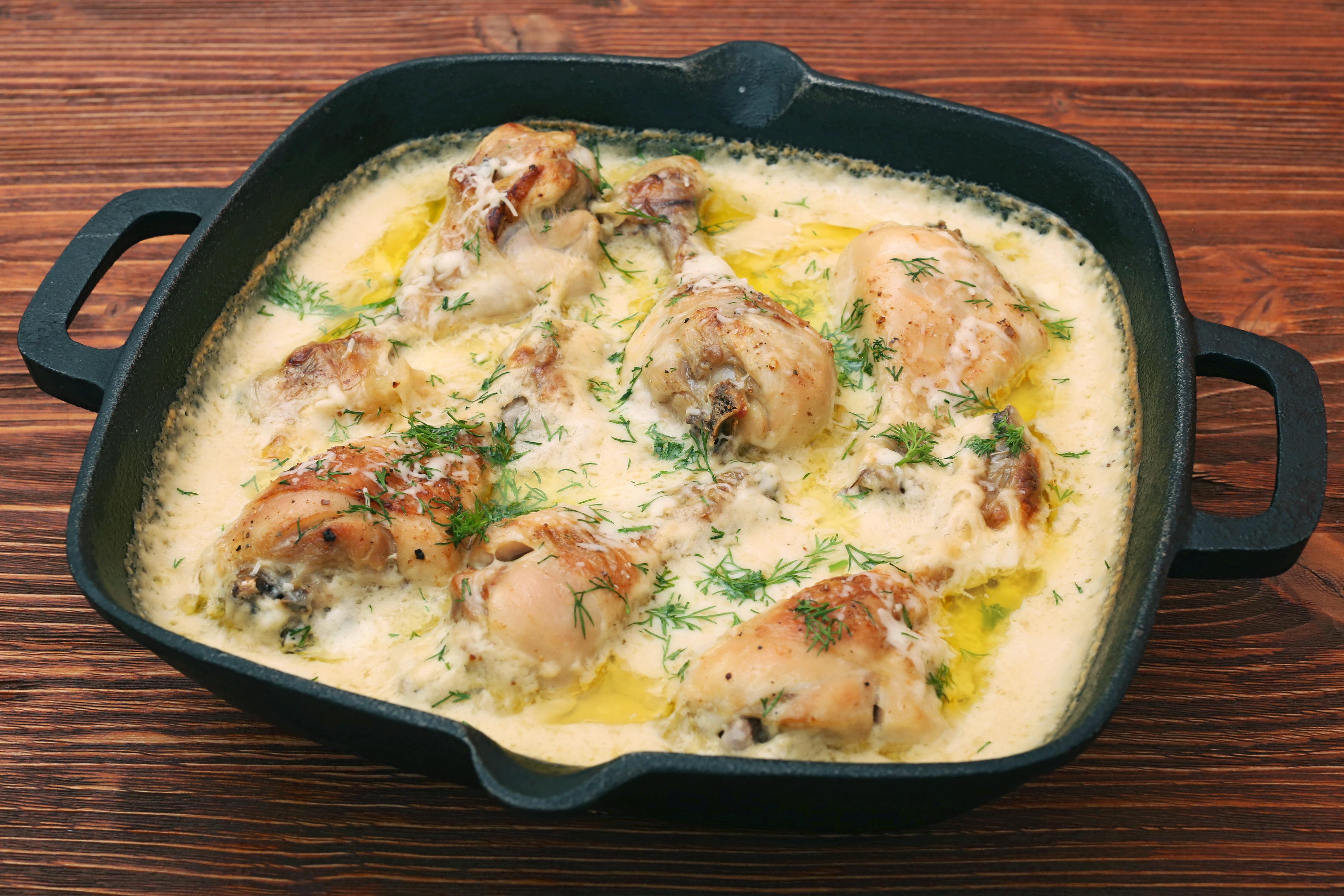 Курица с луком в молоке – простой и вкусный ужин!