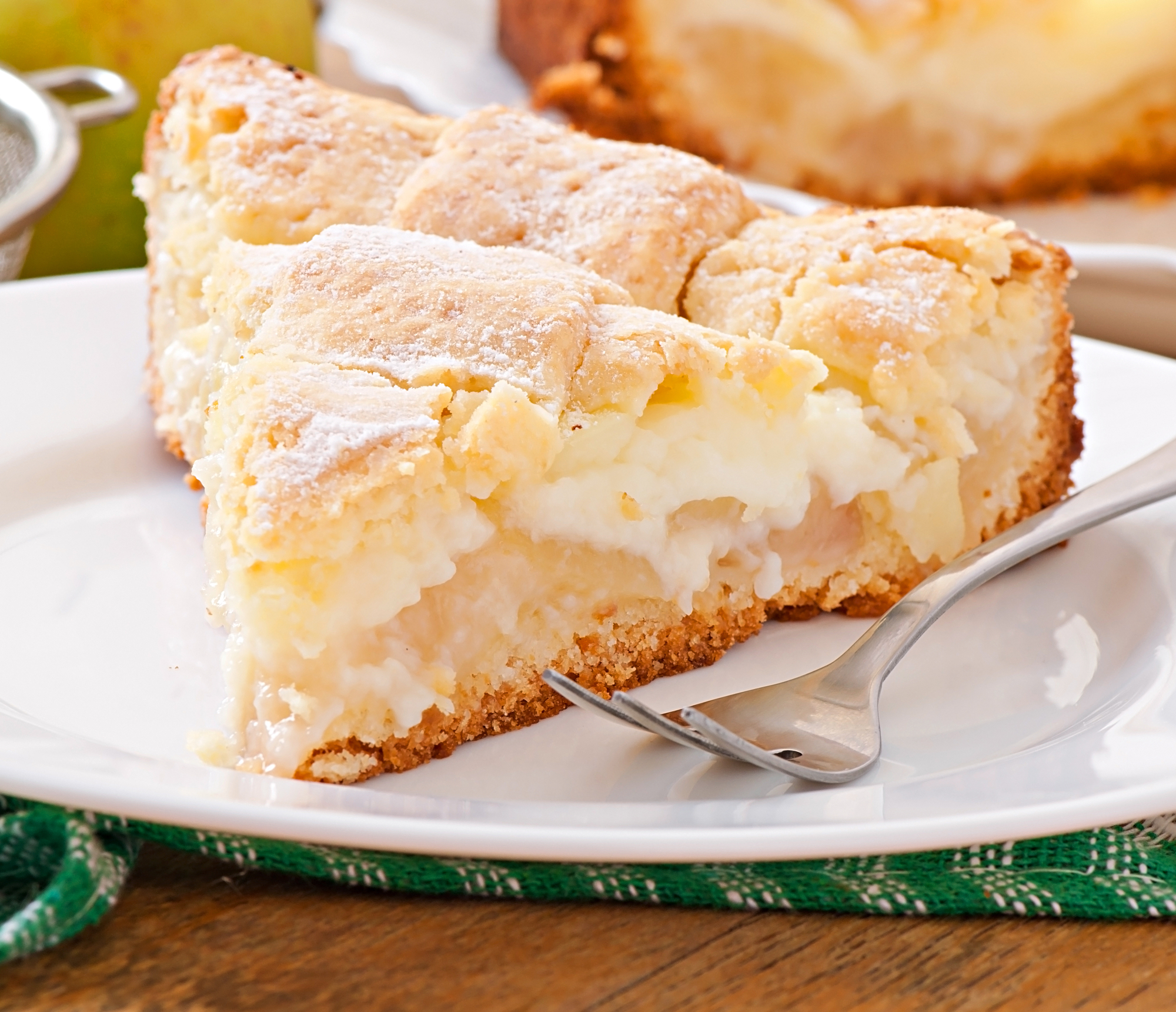 Яблочный пирог с заварным кремом