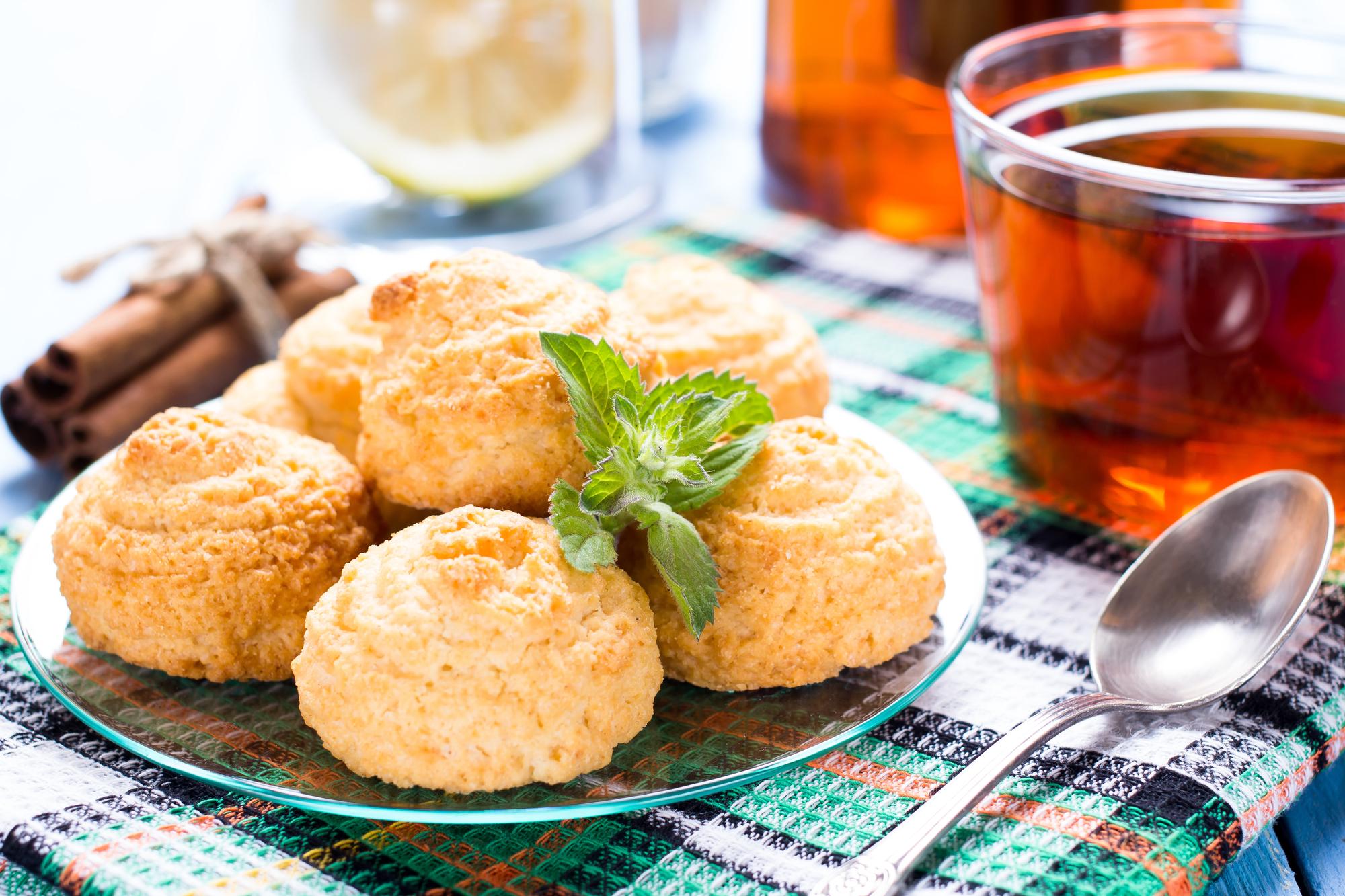 Кокосовое печенье к чаю
