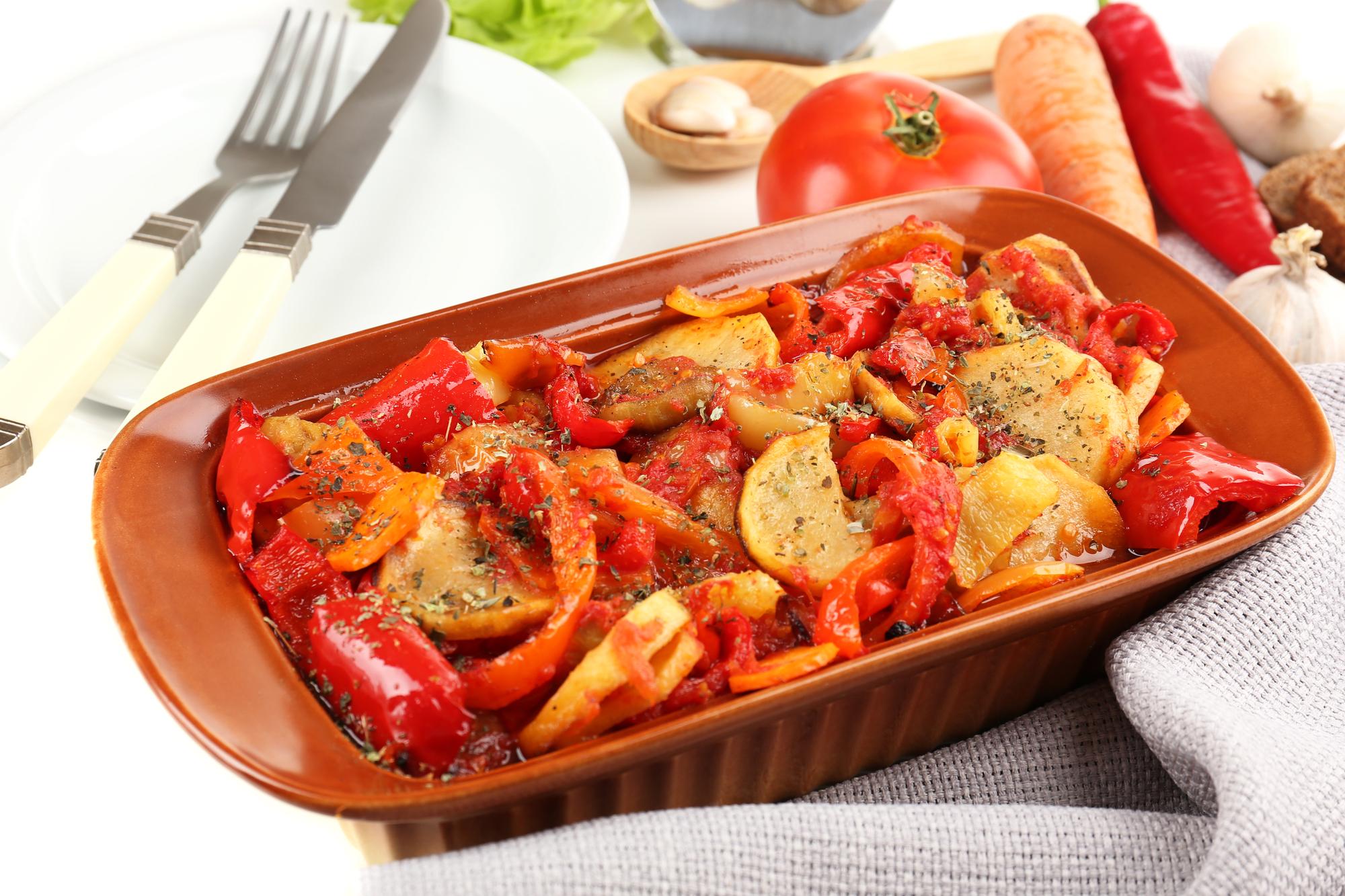 Фото Картофельное рагу с овощами