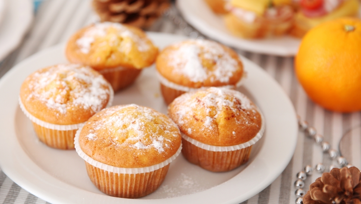 Ароматные апельсиновые кексы