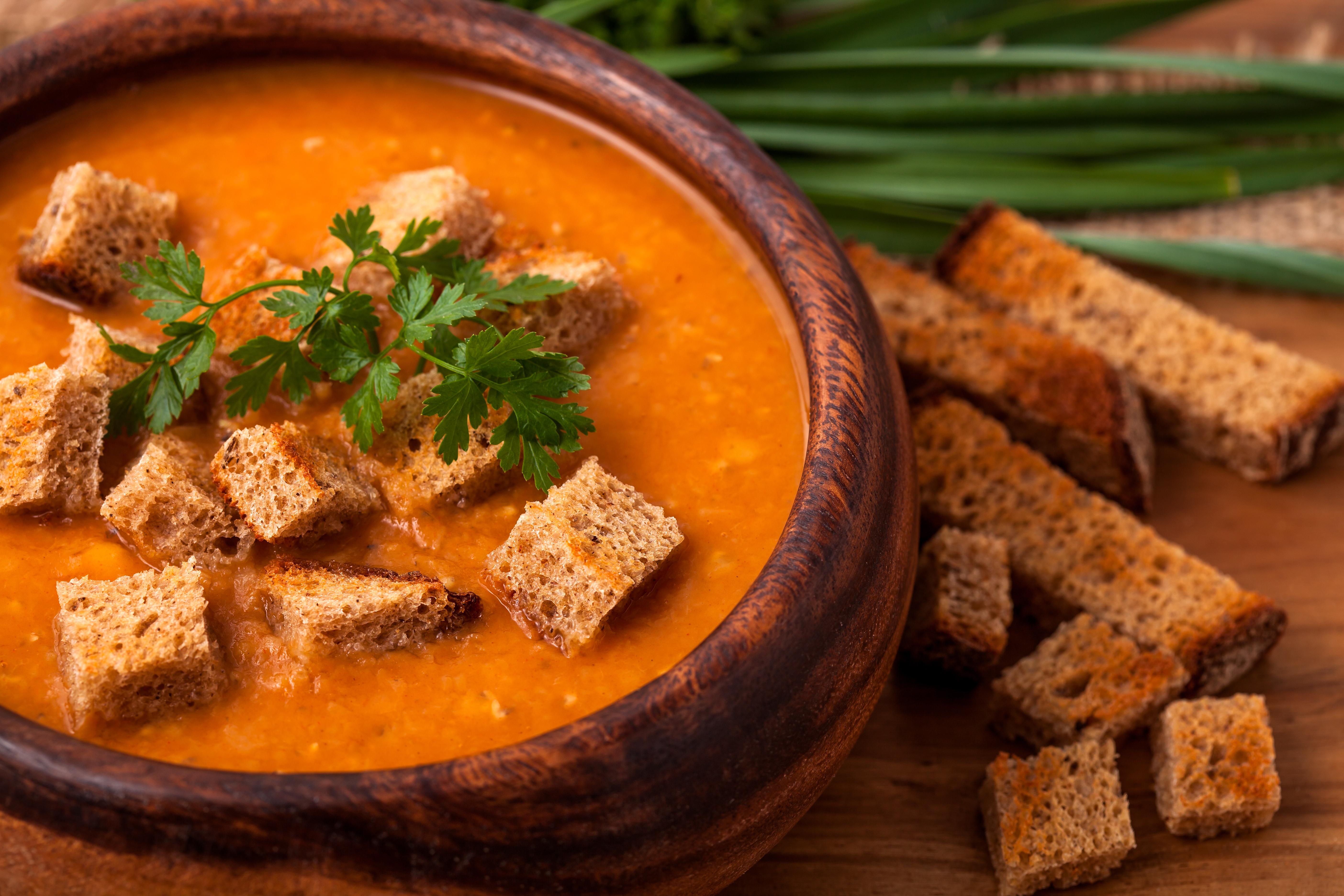 Постный суп-пюре из чечевицы – ну очень вкусный!
